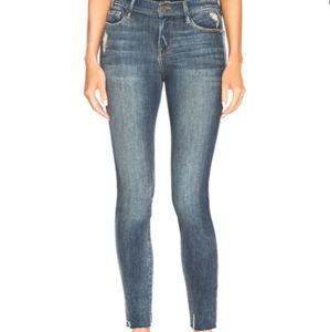 Frame Victoria Park Distressed Raw Hem skinny Jean